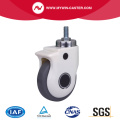 4 Inch 60Kg Threaded Swivel TPE Medical Caster