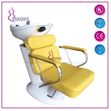Shampoo chair and ceramic bowl