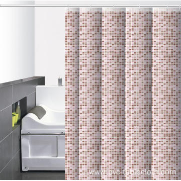 Waterproof Bathroom printed Shower Curtain 48 Wide
