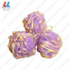China for Mesh Sponges Bath Ball absorbent Ribbon Lace Mesh bath sponge ball supply to Indonesia Manufacturer