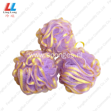 absorbent Ribbon Lace Mesh bath sponge ball