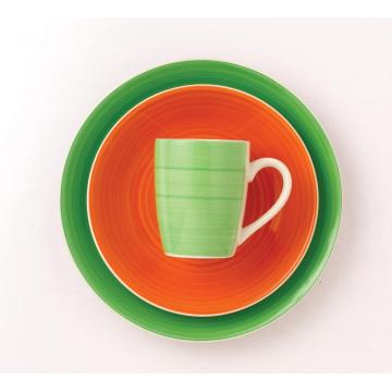 Microwave safe dinner plates with mug