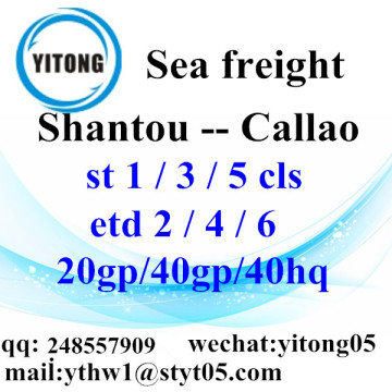 Shantou Sea Freight Shipping to Callao