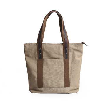 Reusable Vintage Men Blank Cotton Canvas Tote Bag