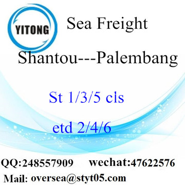 Shantou Port LCL Consolidation To Palembang