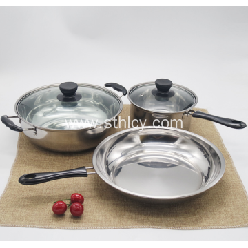 410 Stainless Steel Cookware Set With Magnetic