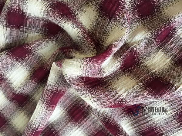 Plaid Baby Clothe Fabric
