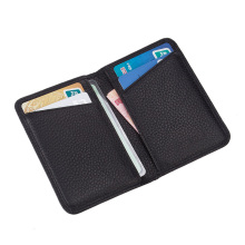 Custom Logo Leather Wallet Card Holder Case Sleeve