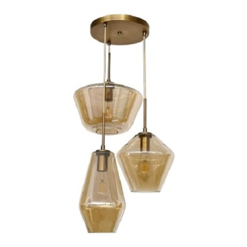 Amber glass simple hanging lamp