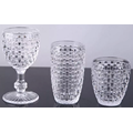 Handmade Crystal Glass Drinking Cup And Goblet Woven Pattern
