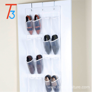 20 pocket hanging shoe file organizer