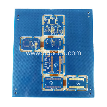 Blue Solder Mask 6layers Rigid Flex PCB Board