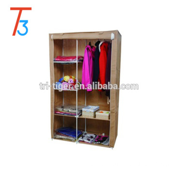 Double Door Clothes Closet Wardrobe cabinet with space-saving design