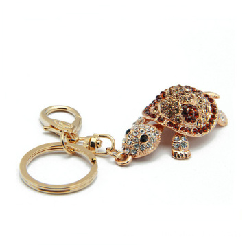 18K Gold Tortoise Keychain Hollow Custom Metal Keychains