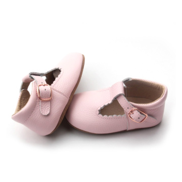 Wholesale Pink Leather Baby Dress Shoes