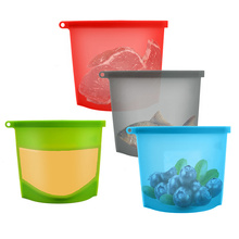 Easy clean Food Sealing Container silicone Bag