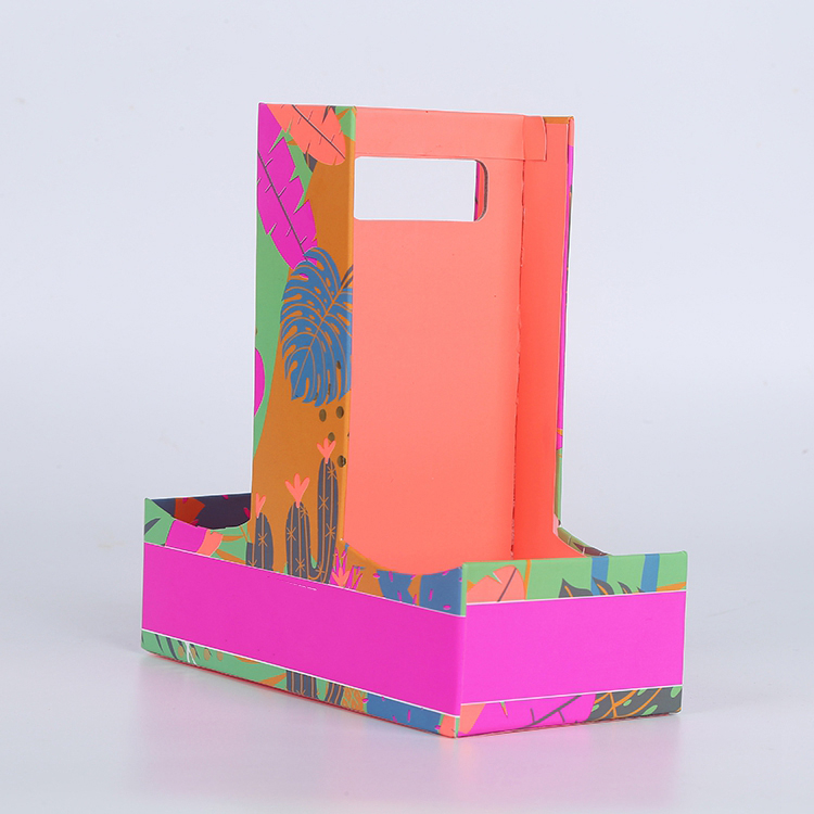 Colorful Die Cut Handle Paper Packaging Box