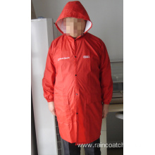 Waterproof 210T Polyester Long Raincoat