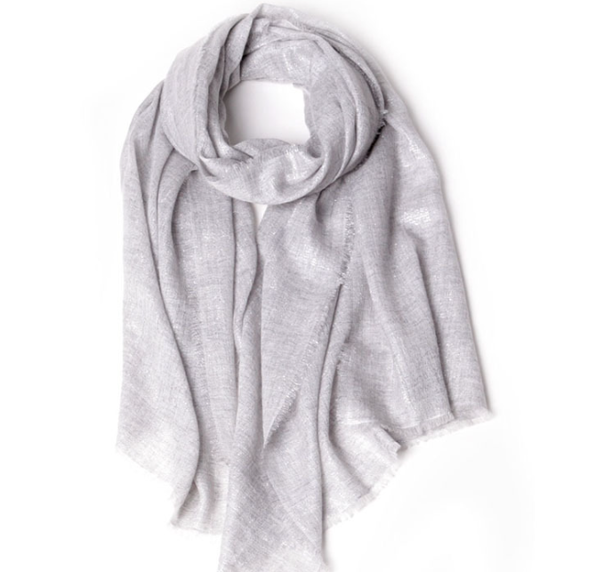 Cashmere Woven Scarf Grey