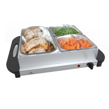 China for Kitchen Buffet Server Professional Hot Plate Food Warmer with 3 Tray supply to Italy Exporter