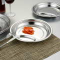 Stainless Steel Two Compartment Fast Food Plate