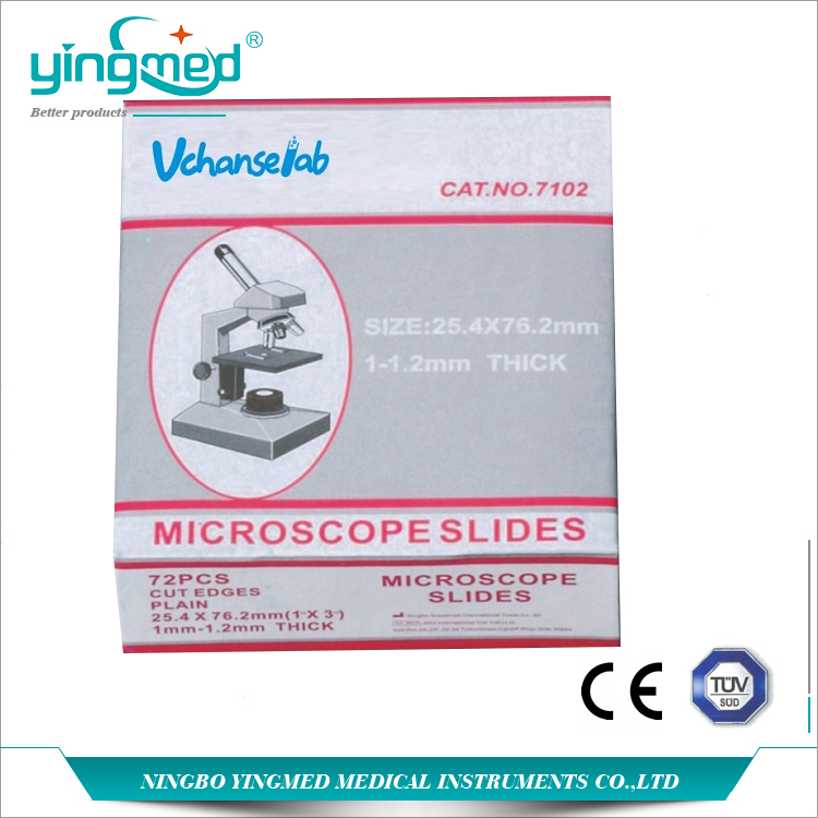 Microscope Slide Glass Marked