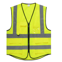 Factory making for Reflective Workwear Safety vest with clear pocket export to Gabon Supplier