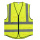 Safety vest with clear pocket