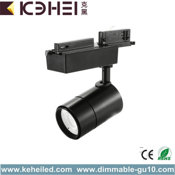 Black 25W LED Track Lights COB 4000K