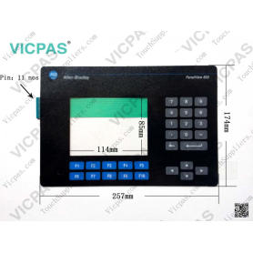 2711-K6C1L1 Membrane Switch for AB PanelView Standard 600 Color