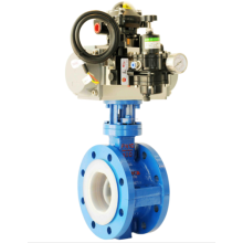 China OEM for Metal-Seal Flanged Butterfly Valve Pneumatic  FEP Flange Fluorine Lined Butterfly Valve supply to France Metropolitan Wholesale