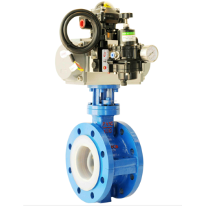 Pneumatic  FEP Flange Fluorine Lined Butterfly Valve