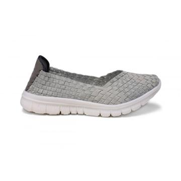 China for China Womens Woven Flats,Flat Shoes For Women,Ladies Flat Shoes,White Flat Shoes Supplier Light Gray Three-dimensional Pattern Woven Pump supply to Netherlands Manufacturer