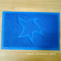 Wholesale various colors embossed coil door mat