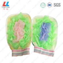 Mesh foam sponge exfoliating gloves item