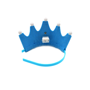 Sombrero de fiesta de cumpleaños King Princess Crown LED