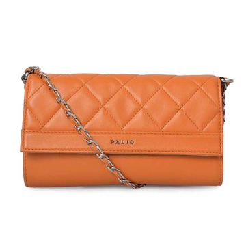 Soft Quilted Leather Clutch Nude Purse Wedding Gift