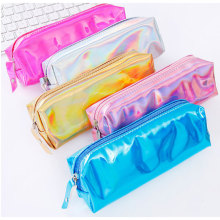 Color Glitter Holographic PU Leather Pencil Pen Case