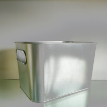 Cheap price for Metal Bucket Square Inner Handle Ice Bucket supply to India Supplier