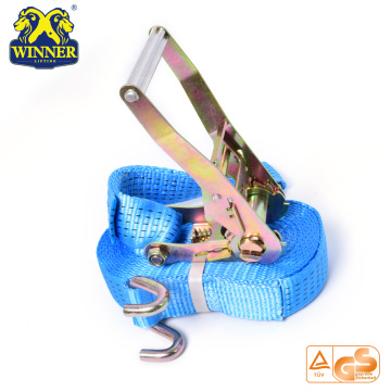 Customized for Ratchet Tie Down Polyester Heavy Duty Rachet Cargo Lashing Strap Truck Ratchet Tie Down export to Bouvet Island Importers