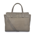 Simple Square Leather Elegant Office Lady Briefcase Handbag