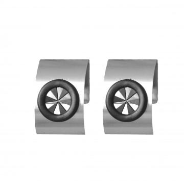 stainless steel towel holder set/2