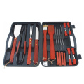 18pcs BBQ tools set in plastic case