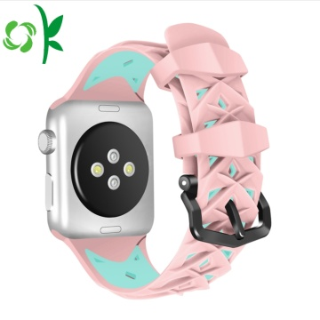 Double Color Valentine Watch Strap Silicone Iwatch Bands