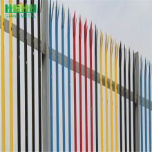 Low MOQ for Palisade steel fence Details triple pointed W section palisade fencing prices supply to Indonesia Manufacturer