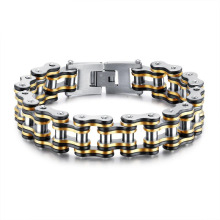 Stainless steel mens motorcycle chain bracelet