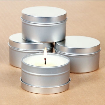 natural soy candle in tin container