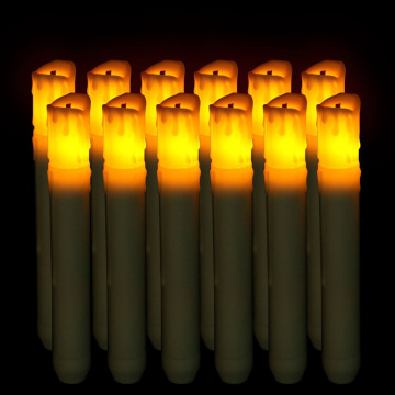 Fiber Head Cylindrical Simulated flame LED Candle