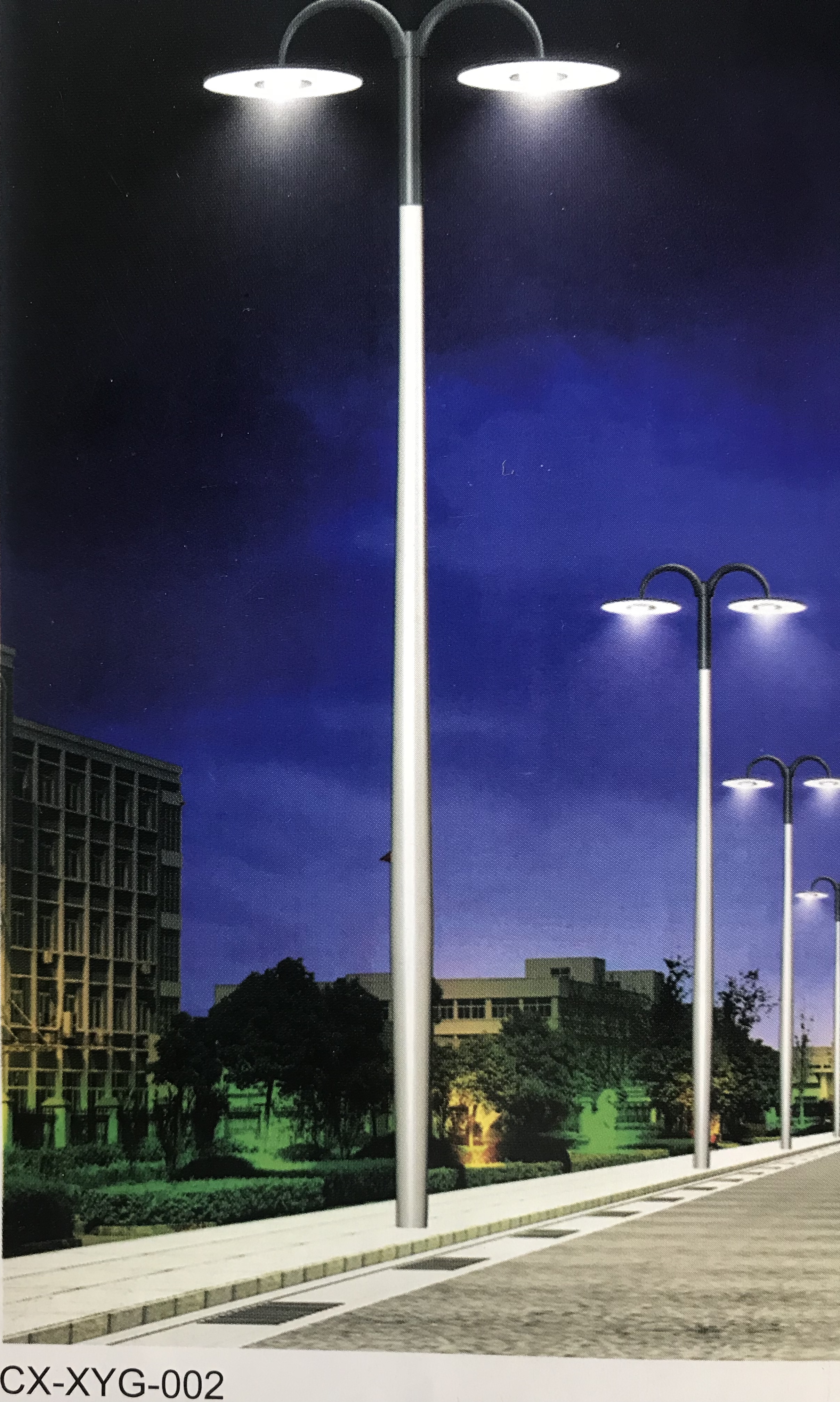 Aluminum alloy spinning street light pole