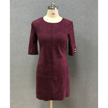 women's wine red  slim dress